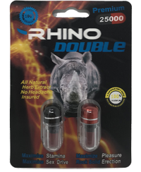 Rhino Double 25000 Male Enhancement 2ct Pill