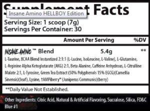 insane labz insane amino Hellboy supp facts